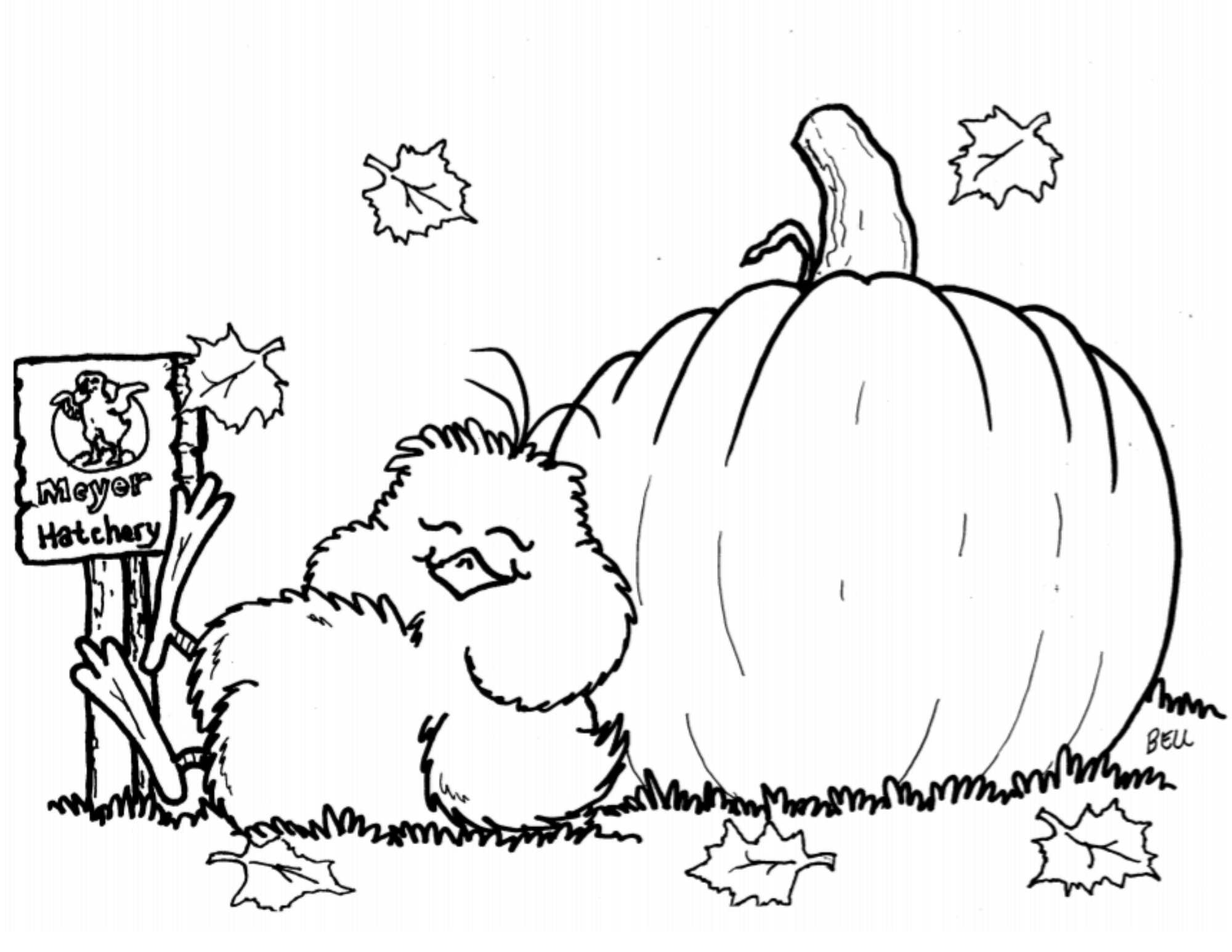 Fall MH Coloring Page