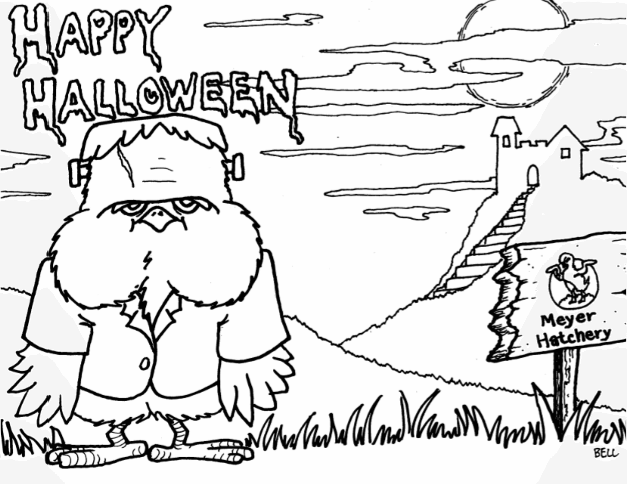 Halloween MH Coloring Page