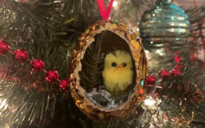 Make A Chicken Themed Egg Ornament